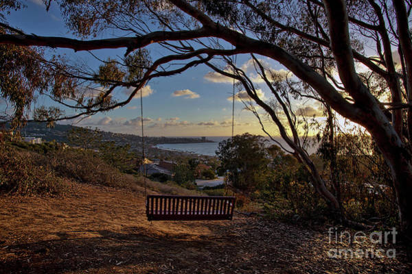 Photograph - Bench Swing Overlooking The Ocean At Sunset by Sam Antonio Photography