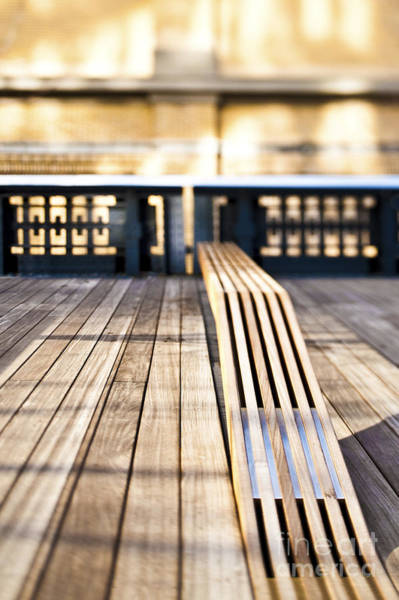 Wall Art - Photograph - Benches At The High Line Park by Eddy Joaquim