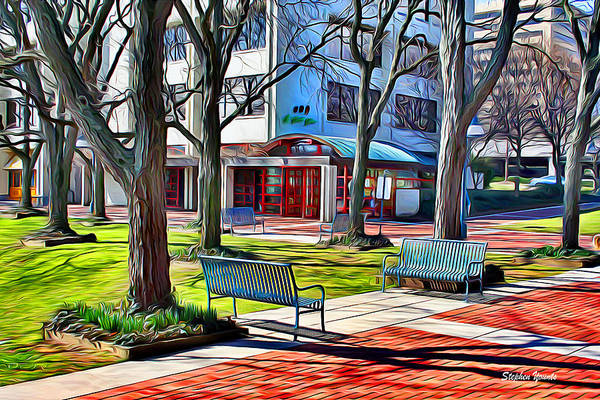 Park Bench Digital Art - Benches by Stephen Younts