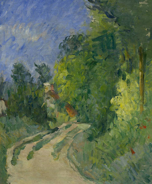 Painting - Bend In The Road Through The Forest by Paul Cezanne