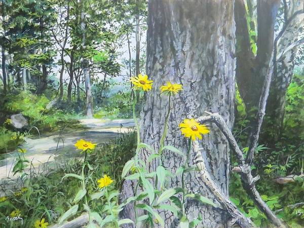 Painting - Bend In The Road by William Brody