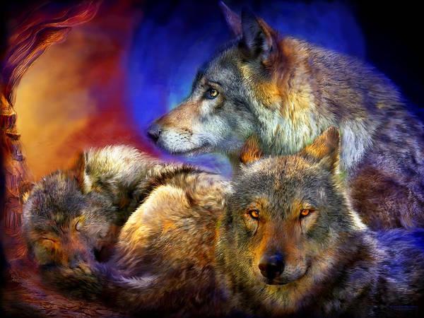Mixed Media - Beneath A Blue Moon by Carol Cavalaris