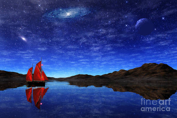 Jewels Digital Art - Beneath A Jewelled Sky by John Edwards