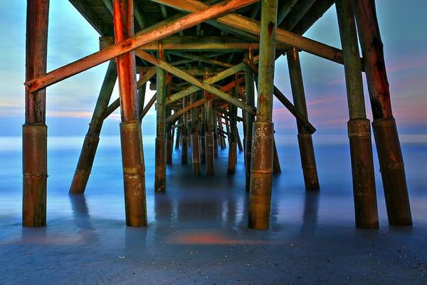 Photograph - Beneath Flagler Beach Pier by Carol Montoya