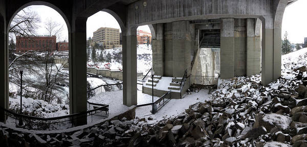 Wall Art - Photograph - Beneath Spokane's Monroe St Bridge by Daniel Hagerman