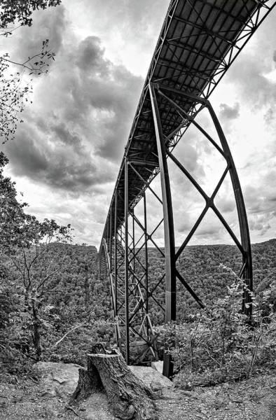 Wall Art - Photograph - Beneath The New River Bridge 4 Monochrome by Steve Harrington