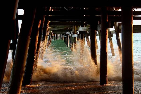 Photograph - Beneath The Pier by Brian Eberly