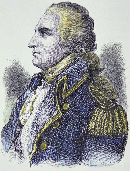 Wall Art - Drawing - Benedict Arnold  General In The Continental Army Who Turned Traitor by American School