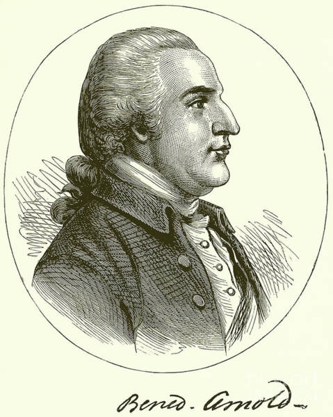 Wall Art - Drawing - Benedict Arnold With Signature  Engraved by English School