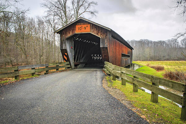 Photograph - Benetka Rd Covered Bridge  by Jack R Perry
