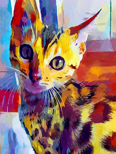 Wall Art - Painting - Bengal Cat by Chris Butler