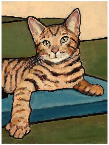 Wall Art - Painting - Bengal Cat by Joyce Geleynse