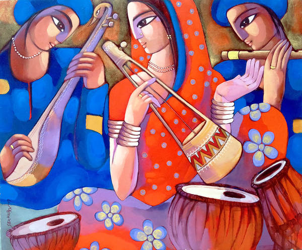 Painting - Bengali Tune Baul by Sekhar Roy