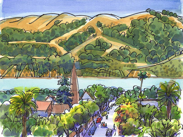 Painting - Benicia And Carquinez Straight by Judith Kunzle