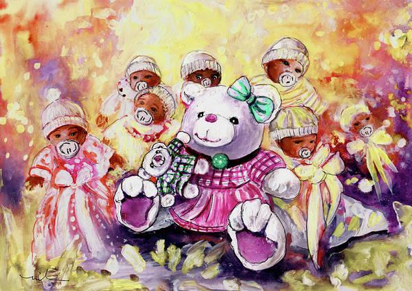 Wall Art - Painting - Benidorm Bears And Babies by Miki De Goodaboom