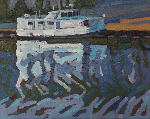 Lake Huron Painting - Benjamin-charles The Turtle Boat by Phil Chadwick