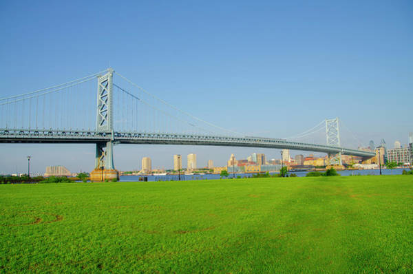 Wall Art - Photograph - Benjamin Franklin Bridge From The North by Bill Cannon