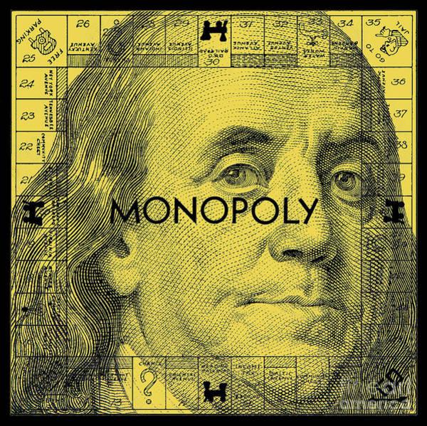 Monopoly Photograph - Benjamin Franklin Monopoly Gold by Jon Neidert