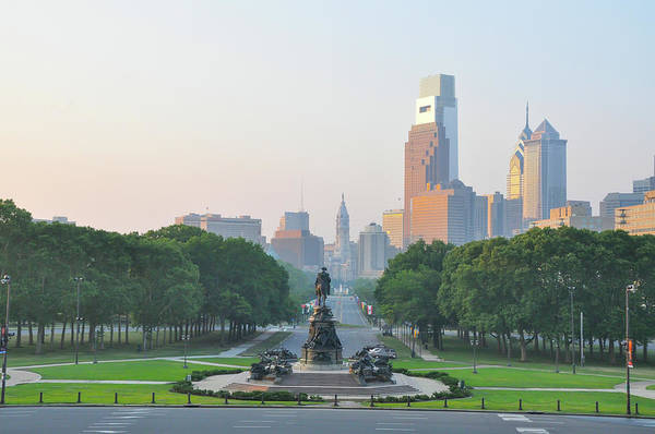 Wall Art - Photograph - Benjamin Franklin Parkway - Philly by Bill Cannon