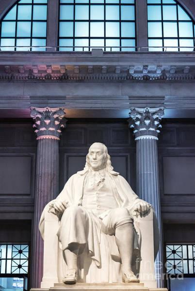 Wall Art - Photograph - Benjamin Franklin Statue by John Greim