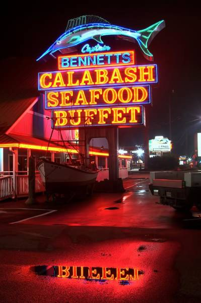 Rockdale County Photograph - Bennetts Calabash Seafood Buffet Myrtle Beach by Corky Willis Atlanta Photography