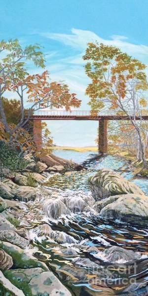 Painting - Bennington Riverbed by Gail Allen