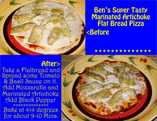 Photograph - Ben's Super Tasty Marinated Artichoke Flat Bread Pizza by Ben Upham III