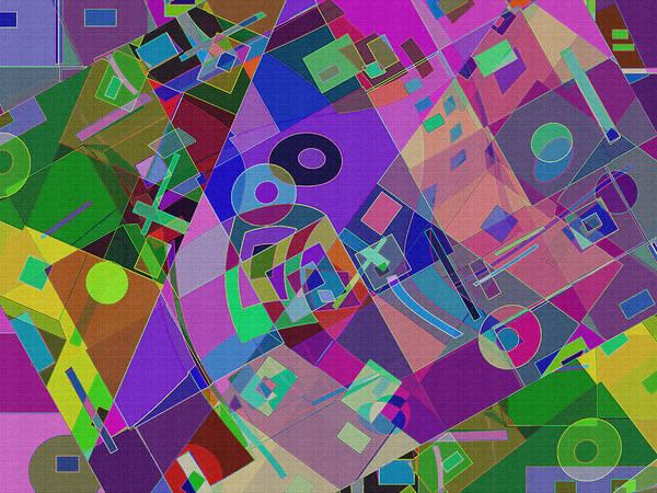 Digital Art - Bent Shapes 13 by Lynda Lehmann