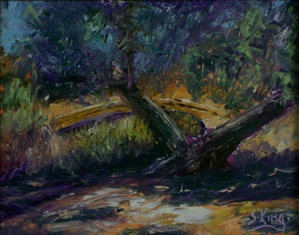 Stephen King Painting - Bent Tree by Stephen King