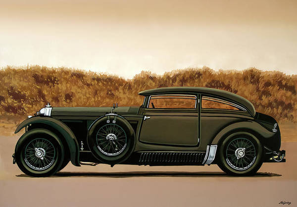 Wall Art - Painting - Bentley Blue Train 1930 Painting by Paul Meijering