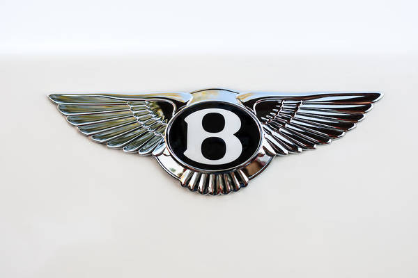 Wall Art - Photograph - Bentley Emblem -0081c by Jill Reger
