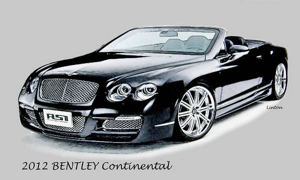 Digital Art - Bentley by Larry Linton