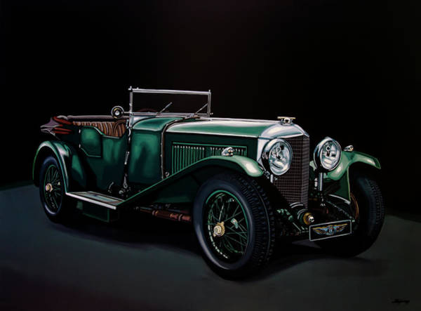 Oldtimer Wall Art - Painting - Bentley Open Tourer 1929 Painting by Paul Meijering