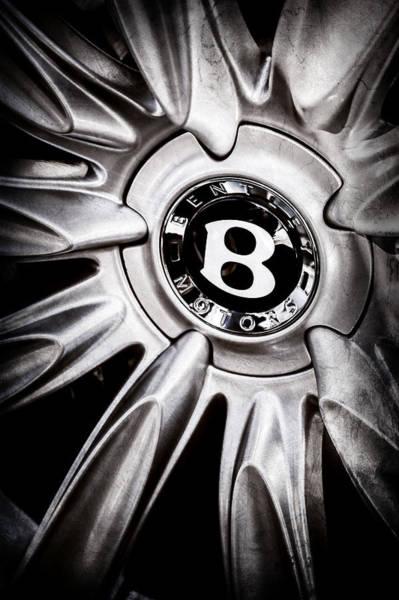 Photograph - Bentley Wheel Emblem -0303ac by Jill Reger