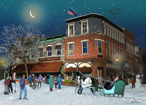 Photograph - Winter In Woodstock Vermont by Nancy Griswold