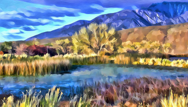Mixed Media - Benton Pond by Frank Lee Hawkins Eastern Sierra Gallery