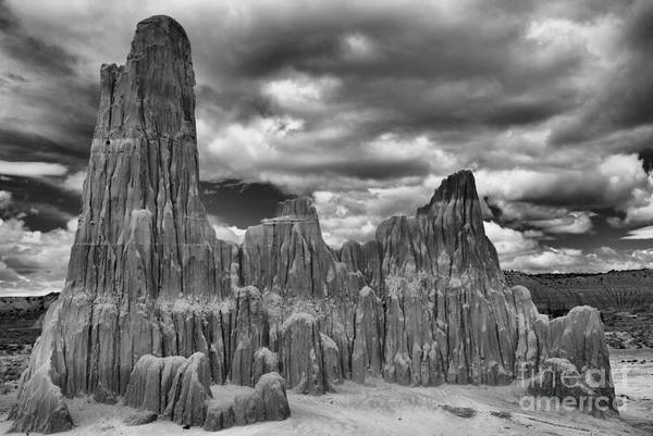 Photograph - Bentonite Towers - Black And White by Adam Jewell