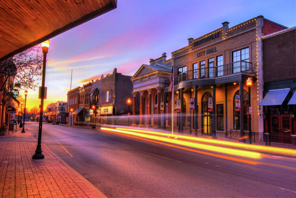Photograph - Bentonville Arkansas Skyline Sunrise by Gregory Ballos