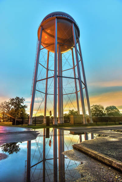 Arkansas Wall Art - Photograph - Bentonville Arkansas Water Tower After Rain by Gregory Ballos