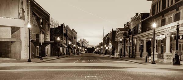 Wall Art - Photograph - Bentonville City Downtown Skyline Panorama - Arkansas Sepia by Gregory Ballos