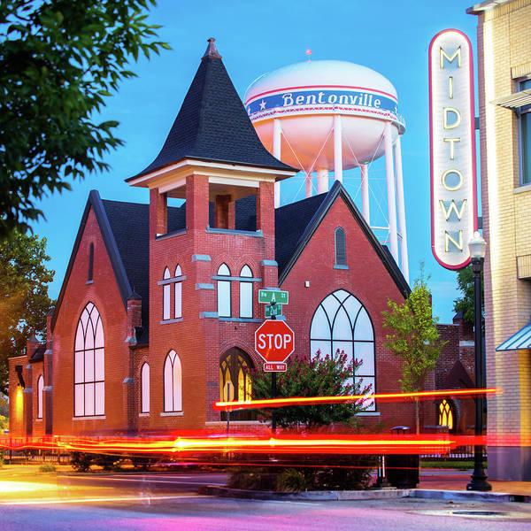 Photograph - Bentonville Downtown Movement - Arkansas Cityscape Photography by Gregory Ballos