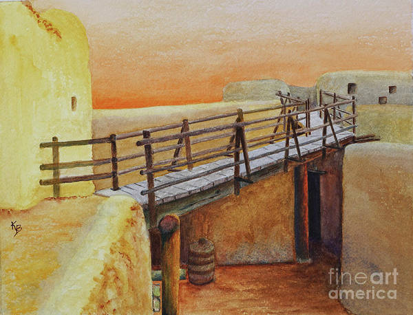 Painting - Bent's Old Fort by Karen Fleschler