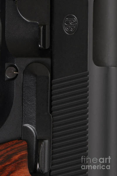 Beretta Wall Art - Photograph - Beretta Gun Closeup by Jt PhotoDesign