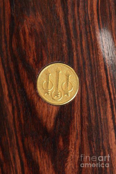 Beretta Wall Art - Photograph - Beretta Logo On Wood Grip by Jt PhotoDesign