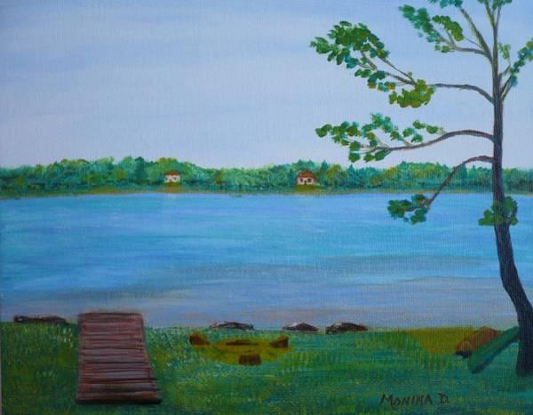 Painting - Berford Lake In Ontario by Monika Shepherdson