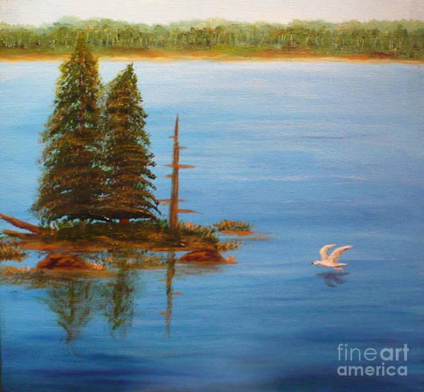 Painting - Berford Lake2 by Monika Shepherdson
