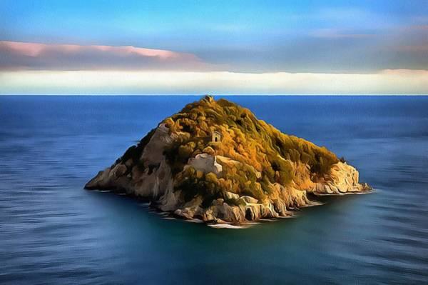 Painting - Bergeggi Island by Enrico Pelos
