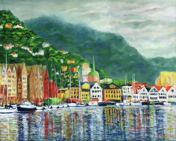 Painting - Bergen Harbor by Stan Sweeney