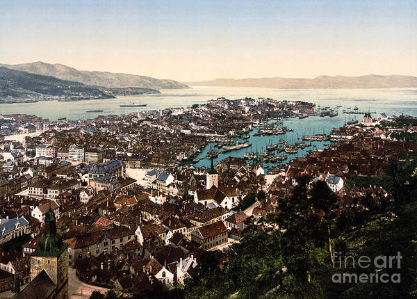 Painting - Bergen Norway by Celestial Images