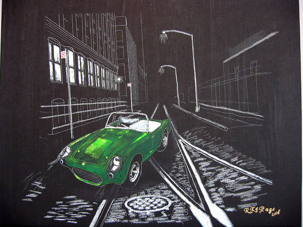 Painting - Berkley Sports Car by Richard Le Page